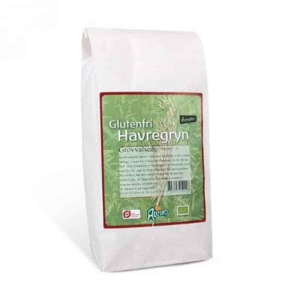 En grovvalset glutenfri havregryn fra Aurion