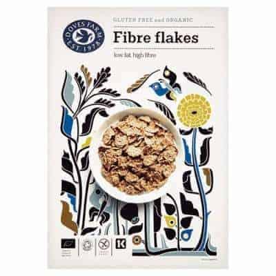 Fibre flakes et af de glutenfri morgenmadsprodukter