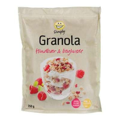 Granola med hindbær og boghvede fra easis