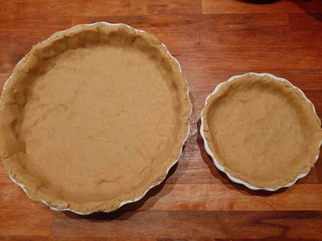 Glutenfri tæretebund klar til fyld