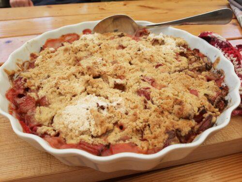 Glutenfri Rabarbertærte med Smuldredej